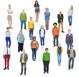Group of Multiethnic Diverse Cheerful People Stock Images