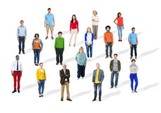 Group of Multiethnic Diverse Cheerful People Stock Image