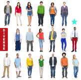 Group of Multiethnic Diverse Colorful People Stock Images