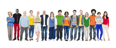 Group of Multiethnic Diverse Colorful People.  Royalty Free Stock Photo