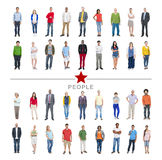 Group of Multiethnic Diverse Colorful People Stock Image