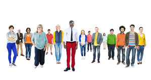 Group of Multiethnic Diverse Colorful People Royalty Free Stock Photos