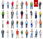 Group of Multiethnic Diverse Colorful People Stock Photos