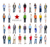 Group of Multiethnic Diverse Colourful People Royalty Free Stock Photos
