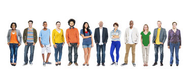 Group of Multiethnic Diverse Colourful People Stock Photos