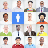 Group of Multiethnic Diverse Confident Men Royalty Free Stock Photo