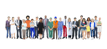 Group of Multiethnic Diverse Mixed Occupation People Stock Image