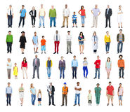 Group of Multiethnic Diverse Mixed Occupation People.  Royalty Free Stock Photos
