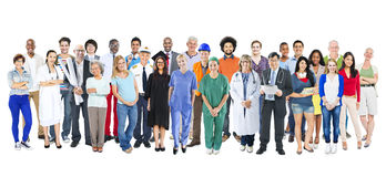 Group of Multiethnic Diverse Mixed Occupation People.  Royalty Free Stock Photography
