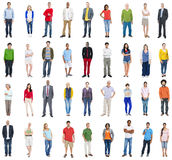 Group of Multiethnic Diverse Mixed Occupation People.  Royalty Free Stock Photo
