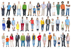 Group of Multiethnic Diverse Mixed Occupation People.  Royalty Free Stock Image