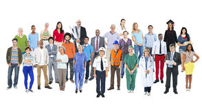 Group of Multiethnic Diverse Mixed Occupation People.  Royalty Free Stock Images