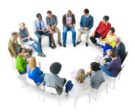 Group of Multiethnic Diverse People Brainstorming Stock Photography