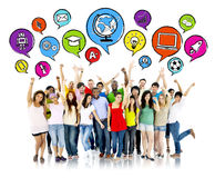 Group Of Multiethnic High School Students Stock Photography