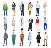 Group of Multiethnic Mixed Occupation People Royalty Free Stock Image