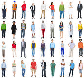 Group of Multiethnic Mixed Occupation People Royalty Free Stock Photos