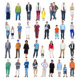 Group of Multiethnic Mixed Occupation People Royalty Free Stock Photography