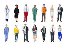Group of Multiethnic Mixed Occupation People Royalty Free Stock Images