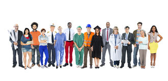 Group of Multiethnic Mixed Occupations People Stock Photography