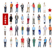 Group of Multiethnic Mixed Occupations People Stock Image