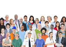 Group of Multiethnic Mixed Occupations People Royalty Free Stock Images