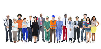 Group of Multiethnic Mixed Occupations People Stock Photos