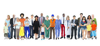 Group Multiethnic Mixed Occupations People Royalty Free Stock Images