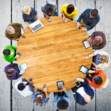 Group of Multiethnic People Connected Digital Devices Concept.  Royalty Free Stock Photo
