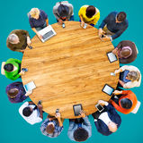 Group of Multiethnic People Connected Digital Devices Concept Royalty Free Stock Photography