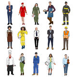 Group of Multiethnic People with Different Jobs Stock Photo