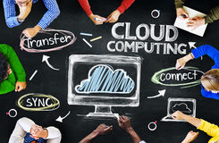 Group of Multiethnic People Discussing About Cloud Computing Stock Image