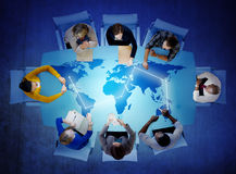 Group of Multiethnic People Discussing Global Issues Stock Photography