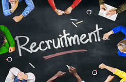 Group of Multiethnic People Discussing Recruitment Stock Photo