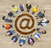 Group of Multiethnic People Forming a Circle Stock Image