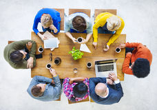 Group of Multiethnic People Having a Coffee Break Stock Photos