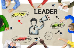 Group of Multiethnic People with Leadership Concepts. Group of Multiethnic People Discussing About Leadership Royalty Free Stock Photography