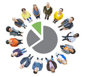 Group of Multiethnic People Looking Up Stock Photos