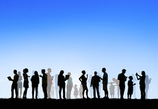 Group of Multiethnic People Outdoors Royalty Free Stock Photography