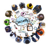 Group of Multiethnic People with Security Concept Stock Photos