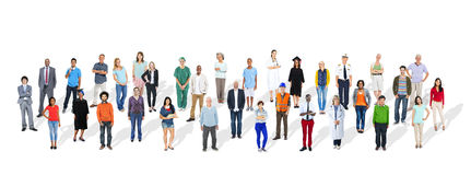 Group of Multiethnic Various Occupations People Royalty Free Stock Images
