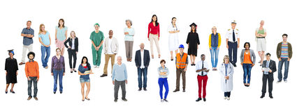 Group of Multiethnic Various Occupations People Royalty Free Stock Image
