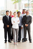 Group multiracial businesspeople. Group of multiracial businesspeople standing together in office royalty free stock images