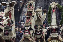 "Group of Mummer. Picture from The Annual ""Surva"" Carnival, Pernik, Bulgaria Stock Photography"