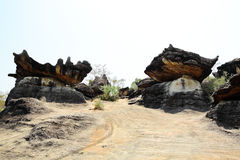 Group of mushroom stone at Muk-da-han park Stock Photo