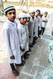 Group of Muslim young boys. Group of muslim young boys getting ready for namaaz (prayer) at mosque Stock Photography