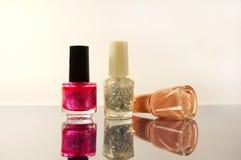 Group of the nail polish Royalty Free Stock Photos