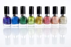 Group of nail polishes Royalty Free Stock Photos