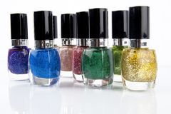 Group of nail polishes Stock Image