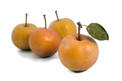 Group of Nashi pear Royalty Free Stock Images