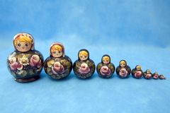 Group of nested dolls Stock Image